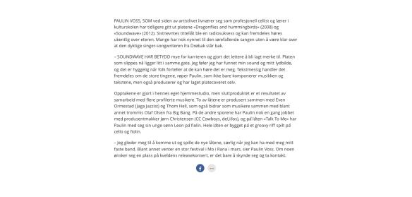 Interview in Akershus Amtstidene