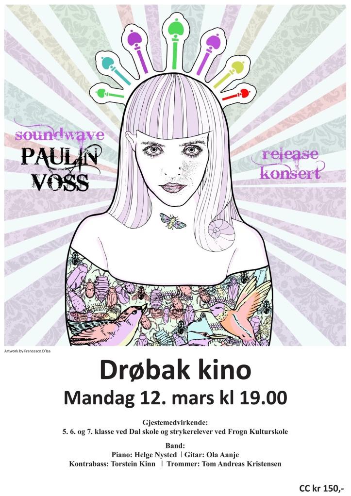 Paulin Voss release concert with band,choir and string section.