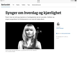 Picture of article on NRK P1